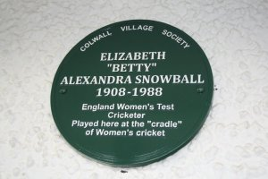Betty Snowball plaque